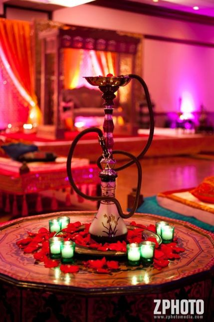 Hookahs at Indian Wedding | Budget decor ideas to get fab wedding decoration with a tent wala also!