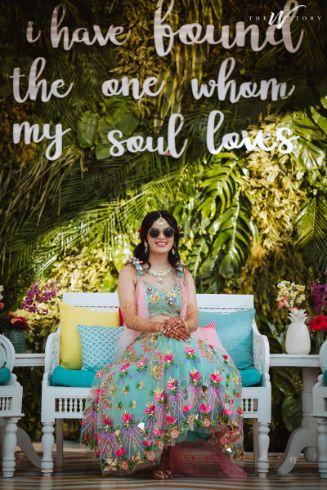 mehendi lehenga inspiration for all bride to be's | Destination Wedding in Jaipur