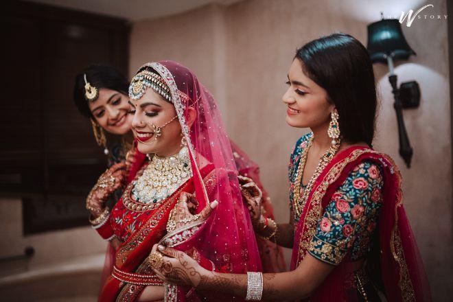 candid photos of a bride | Destination Wedding in Jaipur