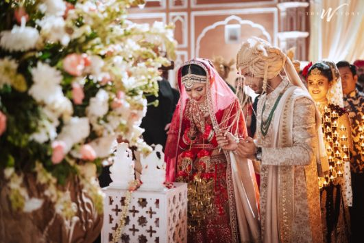 indian couple candid capture | Destination Wedding in Jaipur
