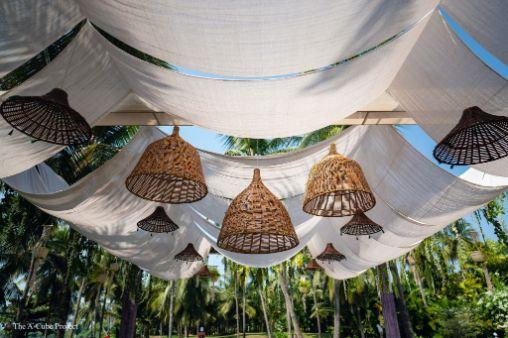 cute jute baskets at an indian wedding | wedding in Kerala