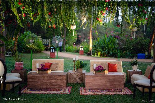 sofa settings at an indian wedding