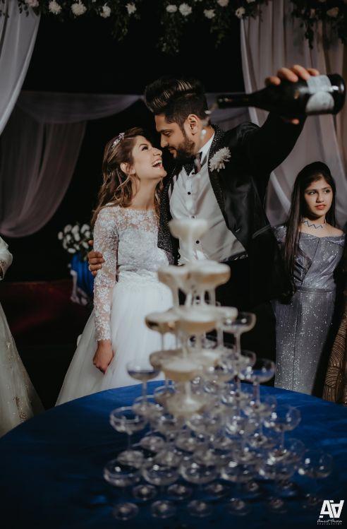 engagement celebration | champagne pour