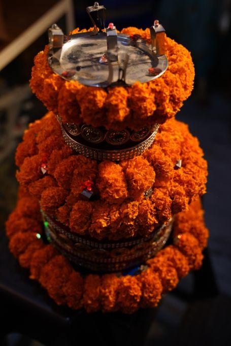 marigold flower decor | indian wedding decoration