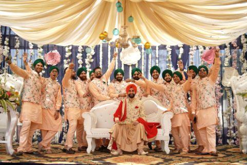 groom with groomsmen | sikh wedding
