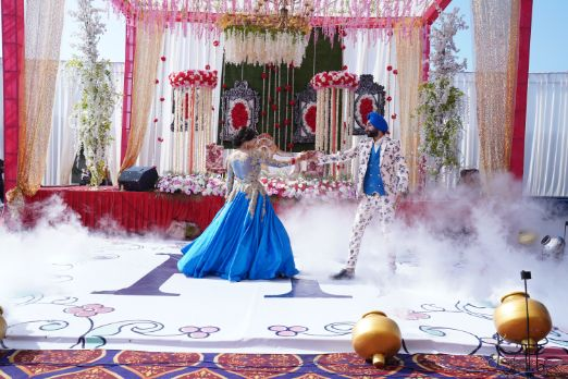 indian bride and groom dance | Surprise Proposal
