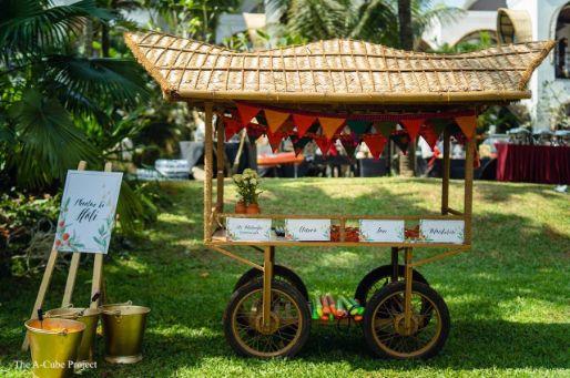 cart sytalls at wedding in Kerala
