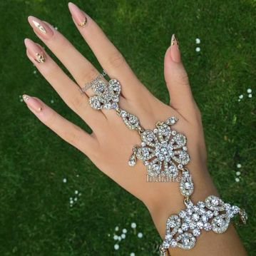 all studded diamond hand harness | Diamond Haathphool & Bracelet Designs