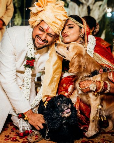 dogo lover couple | eco friendly wedding
