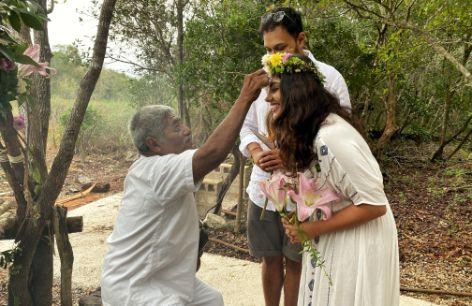 jungle wedding for the beautiful coupl e  eco friendly wedding