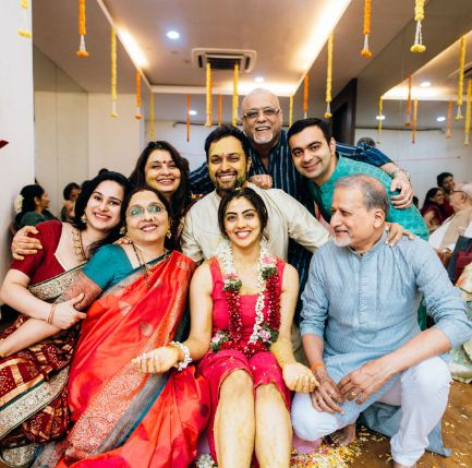 full family photograph at indian wedding functions