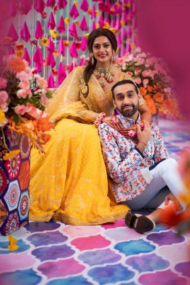 indian couple mehendi photography details