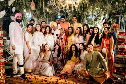 family photo at Indian Wedding | eco friendly wedding