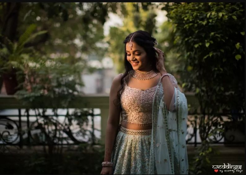 indian wedding sister of the bride outfits 2020 wedding #wittyvows #indianwedding #indianbridesmiad #lehenga #bluelehenga #lehengadesigns #trendinglehenga #weddings #indianwedding2020