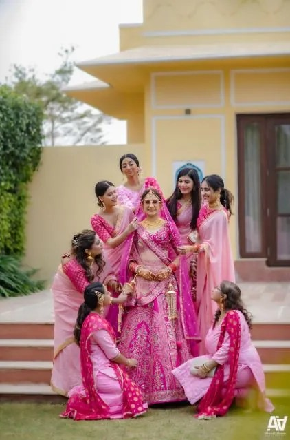 similar outfits for the bridesmaids | indian weddings | Fab Matching Outfit Ideas