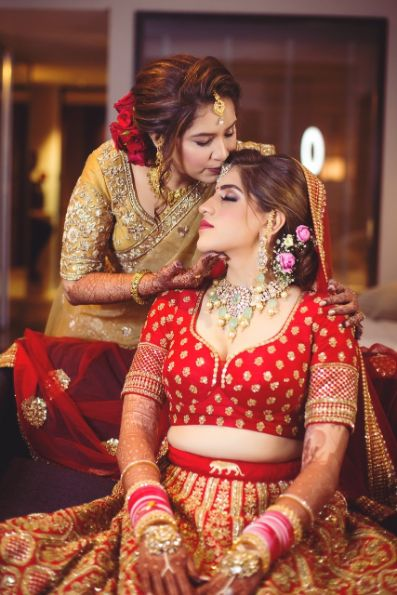 Sabyasachi Bride with her mother | getting ready shoot of the bride