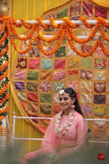 diy decor ideas for mehendi   Modern Customised Lehenga Embroidery