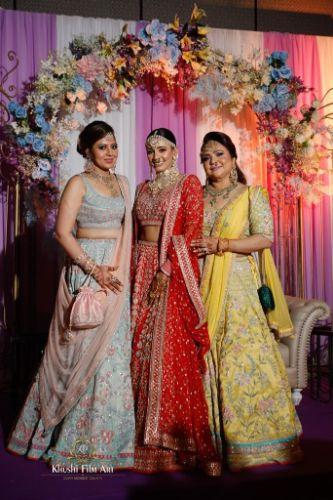 indian bridal photo shoot | Bride in Anita Dongre Lehenga