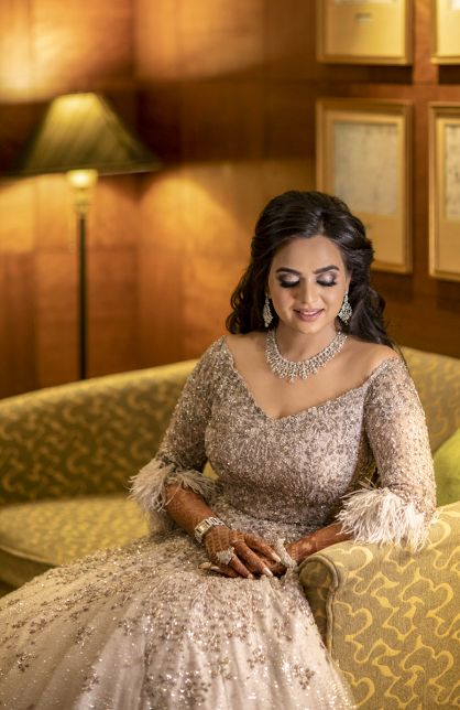 beautiful bride posing for engagement photos