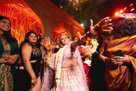 excited bride on wedding day | Fun Jaipur Wedding