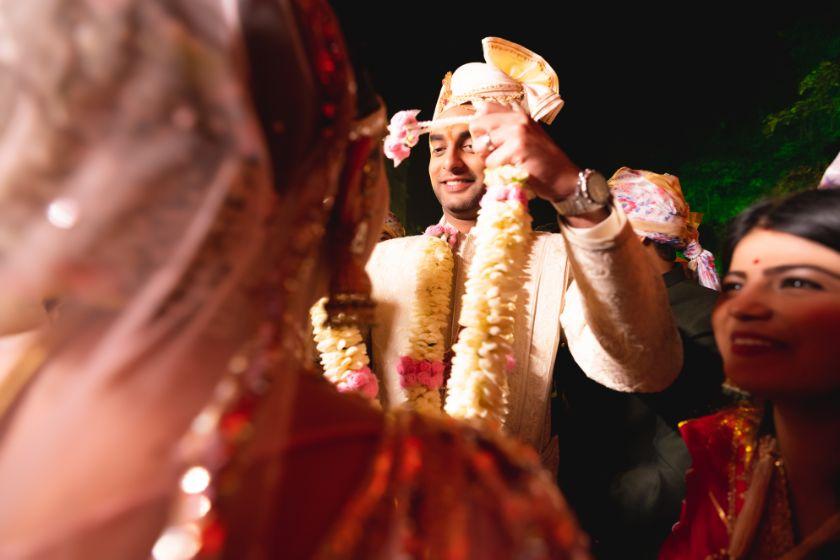 jaimala ceremony | Fun Jaipur Wedding