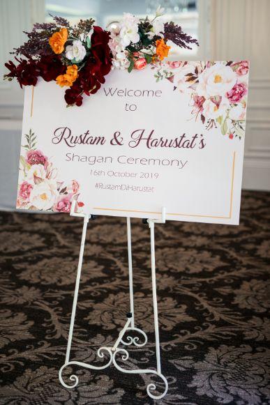 sagan ceremony   sign board at indian weddings