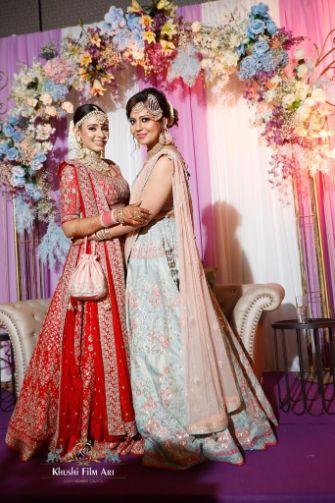 sister of the bride | Bride in Anita Dongre Lehenga
