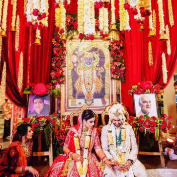 mandap decor  Anita Dongre Wedding Lehenga