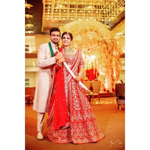 indian wedding couple photography | Anita Dongre Wedding Lehenga
