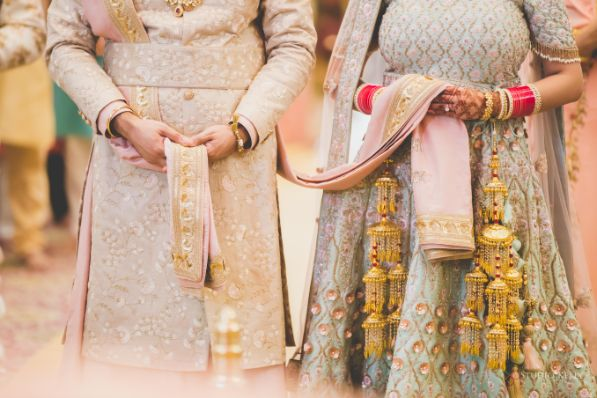 indian wedding | sikh wedding rituals | Pastel Wedding with a Stunning Reception Look