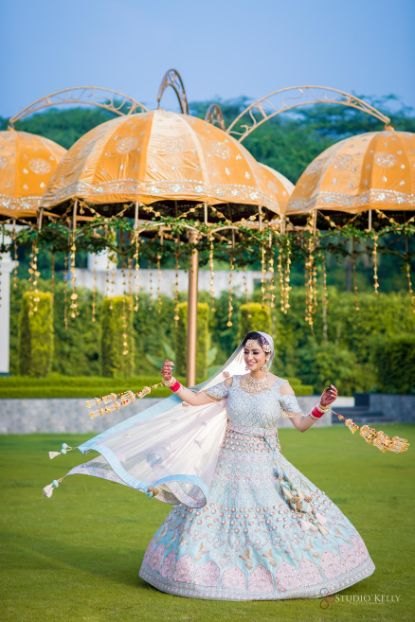 twirling bride | indian bridal details | Pastel Wedding with a Stunning Reception Look