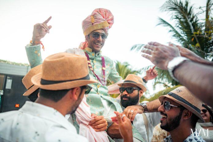 indian groom entry ideas | Beach Wedding in Sri Lanka