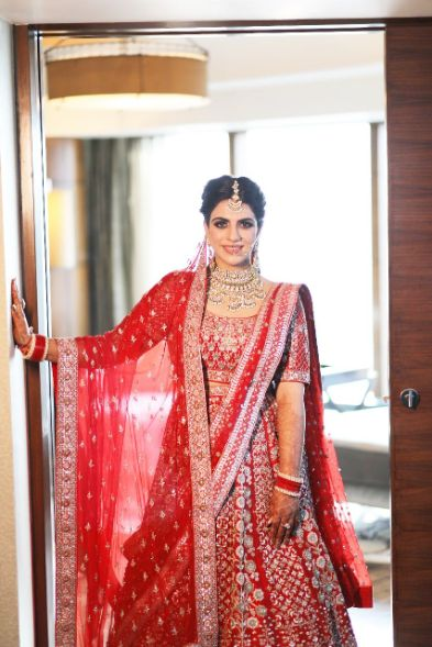 bridal portraits | idain weddings | Anita Dongre Wedding Lehenga