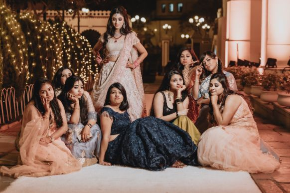 photo shoot with indian bridesmaids | Destination Wedding in Udaipur