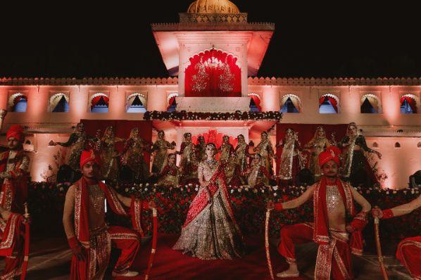 bridal entry ideas | Destination Wedding in Udaipur