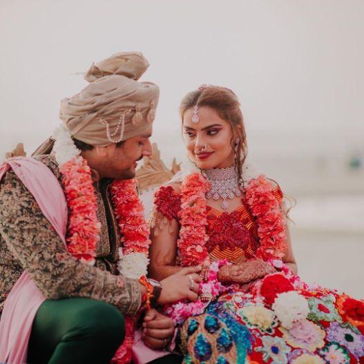candid indian wedding photography | Stunning Colourful Wedding Lehenga