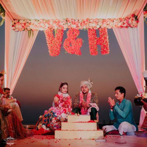 mandap decor ideas | indian wedding decor | Stunning Colourful Wedding Lehenga - Beautiful Goa Wedding