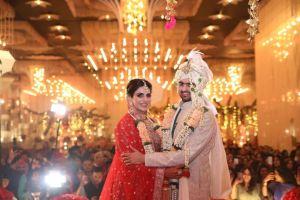 indian bride in beautiful anita dongre lehenga