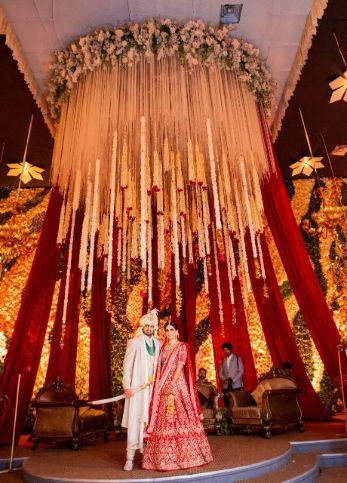 stunning decor deatils | indian wedding | Anita Dongre Wedding Lehenga