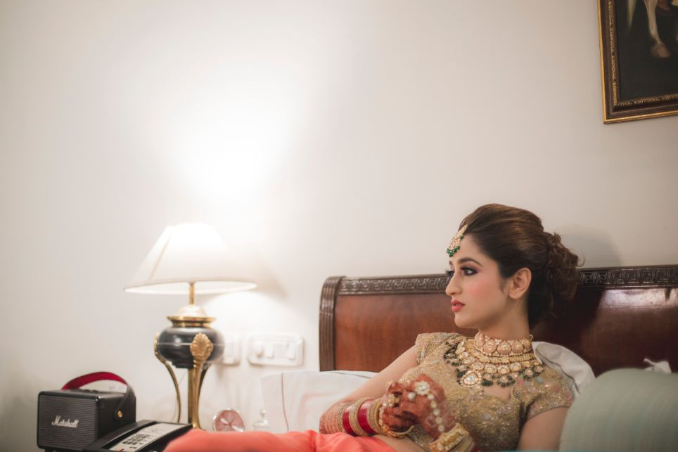 indian bride getting ready photo shoot