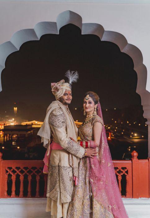 indian couple | wedding day portrait
