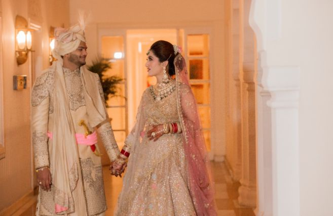 indian bride and groom entry ideas
