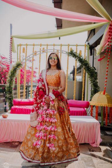 banarashi outfit | indian wedding rituals | floral kaleerre