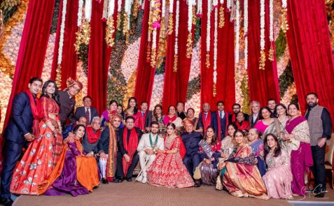 full family photo ideas | indian wedding diaries | Anita Dongre Wedding Lehenga