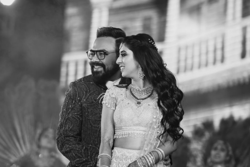 black and white photo shoot ideas | Destination Wedding in Udaipur