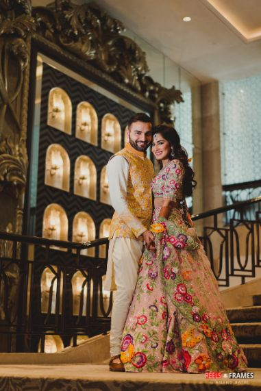 garima and sunny at their beautful mehendi ceremony | Major Mehendi Outfit Goals