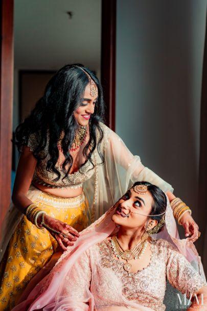 indian bride getting ready shots | Beach Wedding in Sri Lanka
