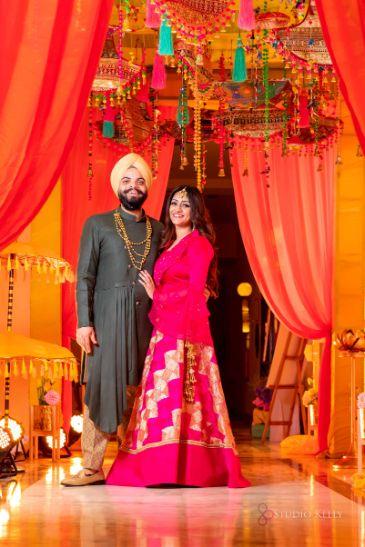 indian bride and groom | sangeet night