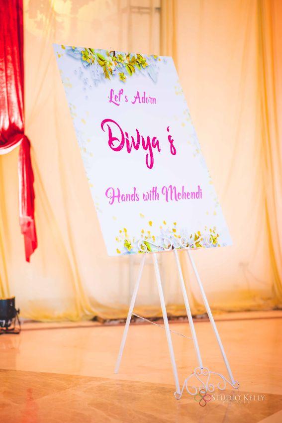 brides megendi day sign board