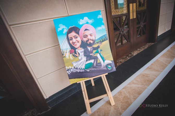 sign borads at indian weddings | Pastel Wedding with a Stunning Reception Look